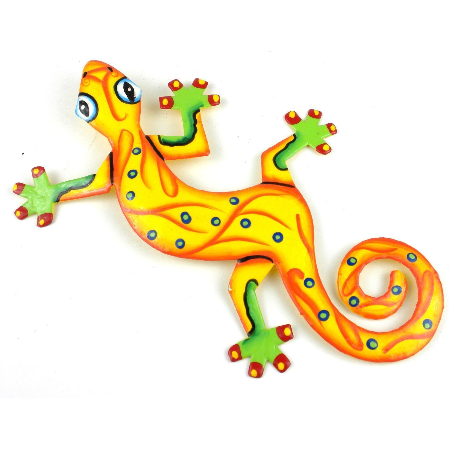 Caribbean Craft Eight Inch Metal Gecko - 24 Designs Available ...