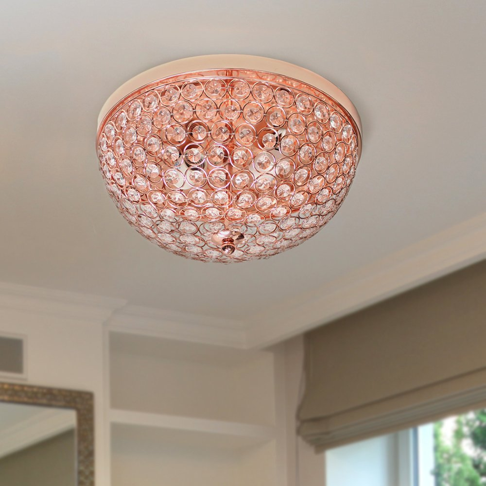 Elegant designs 2 light elipse crystal flush mount ceiling light prev aloadofball Images
